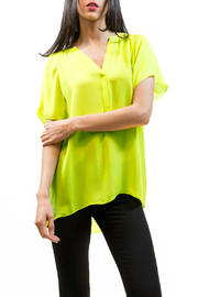 Zoa Fluorescent Short Sleeve Top - Product Mini Image