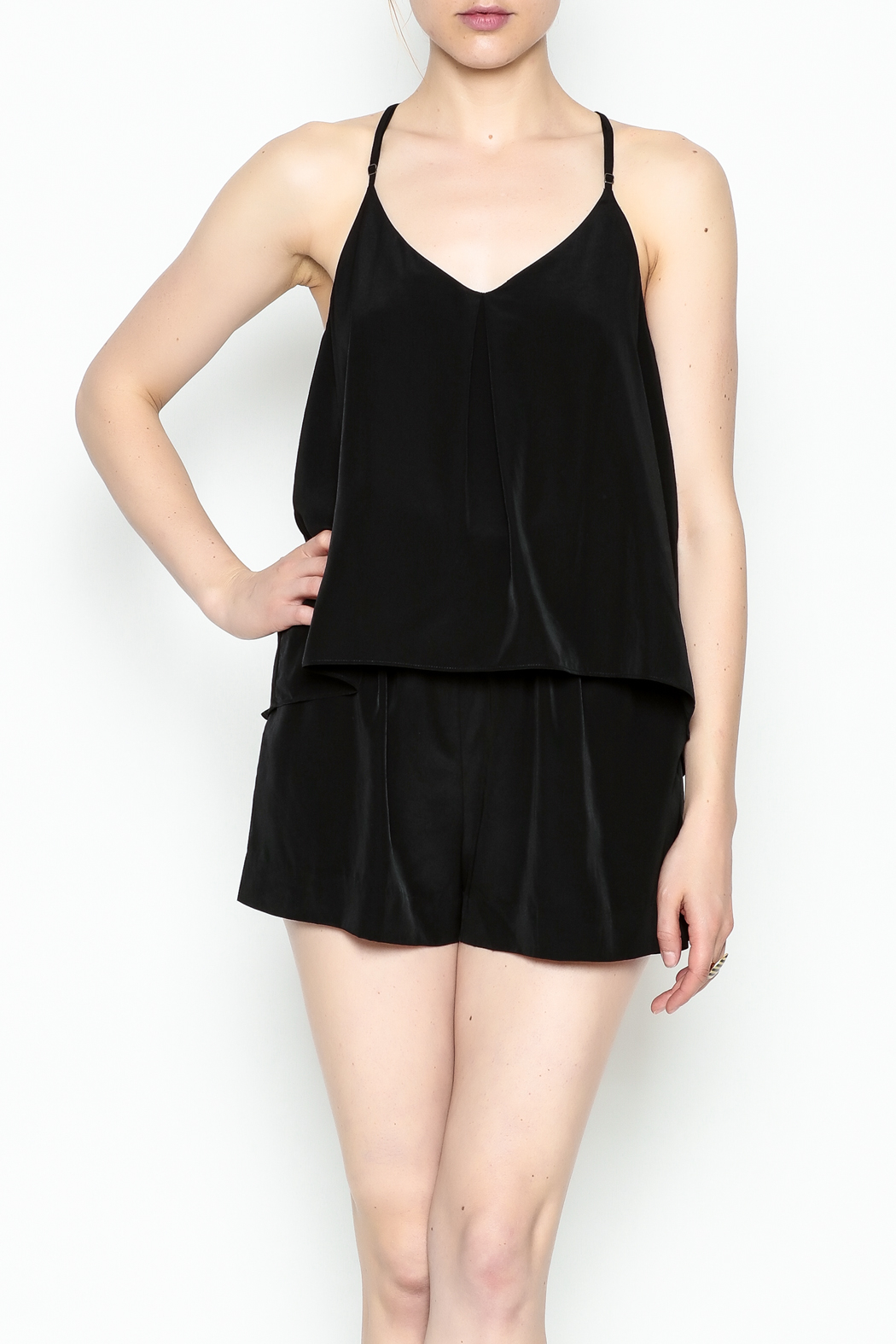 Zoa Layered Top Romper - Side Cropped Image
