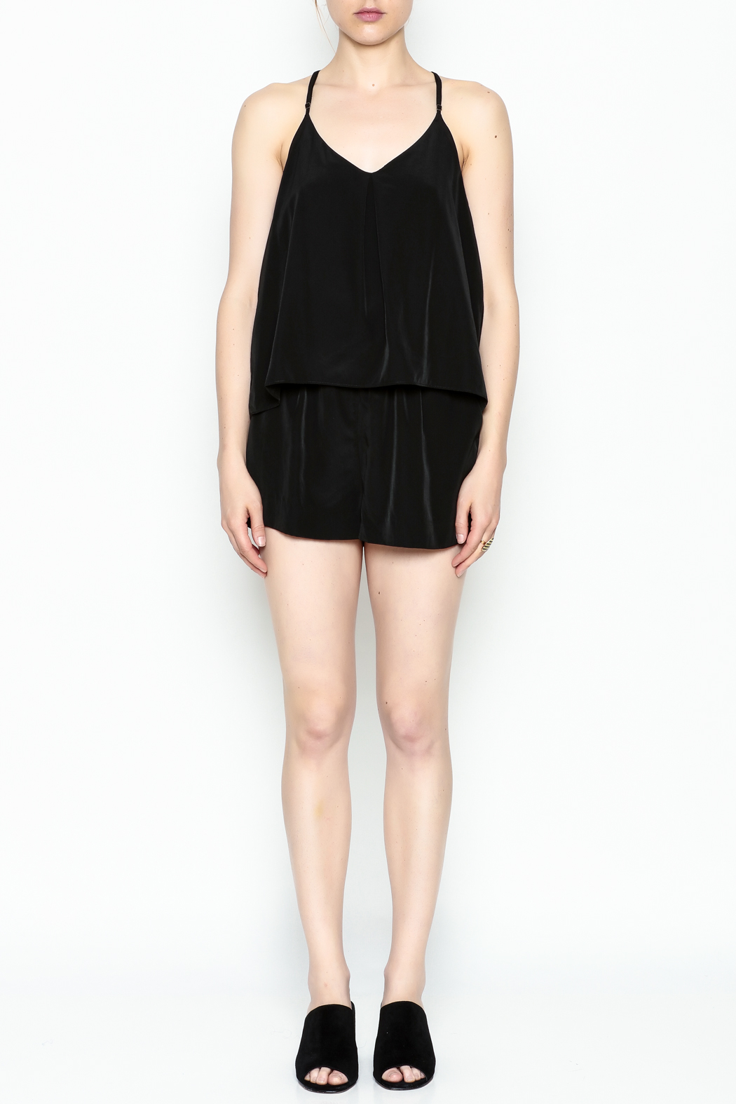 Zoa Layered Top Romper - Front Full Image
