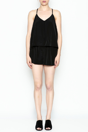 Zoa Layered Top Romper - Front full body