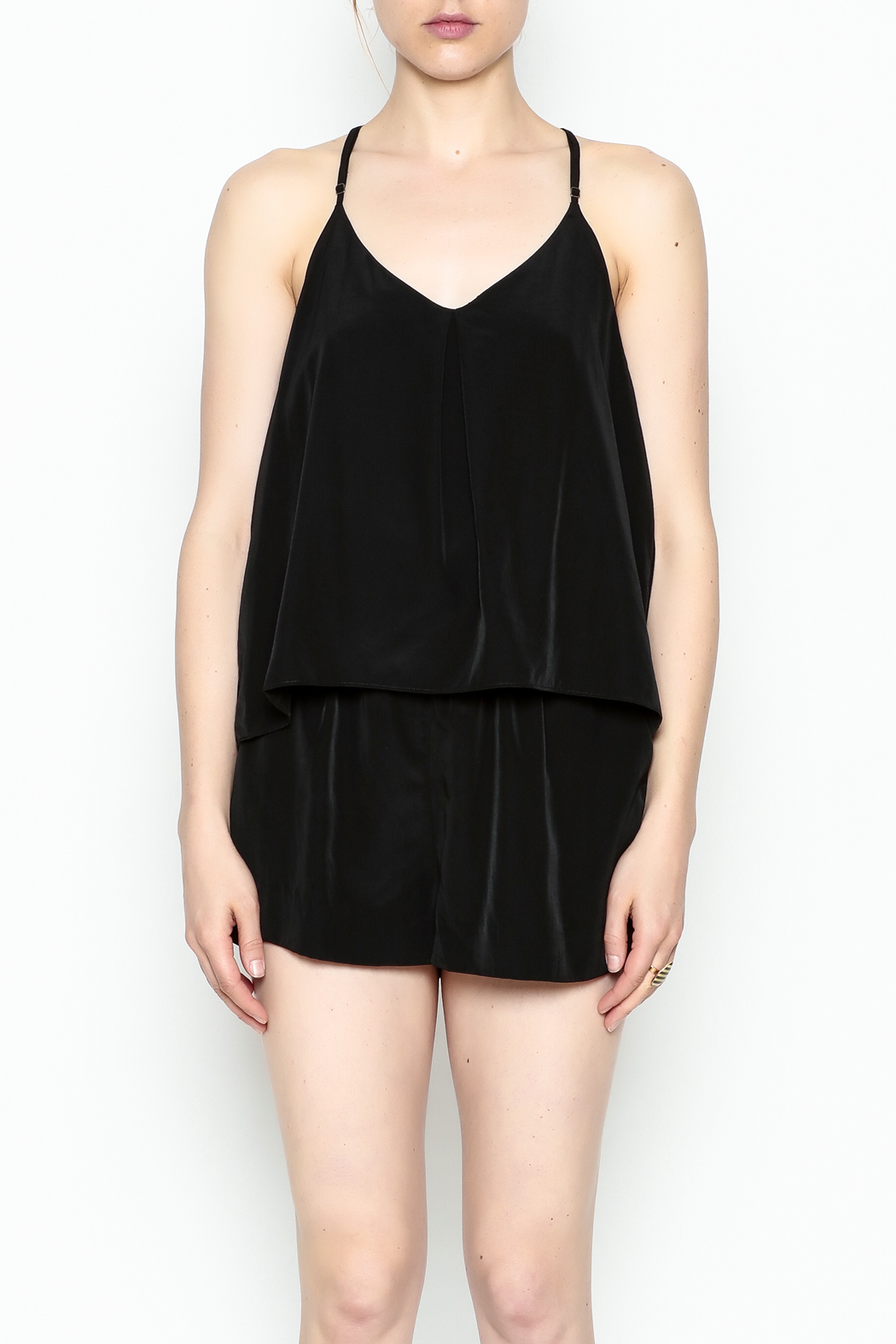 Zoa Layered Top Romper - Front Cropped Image