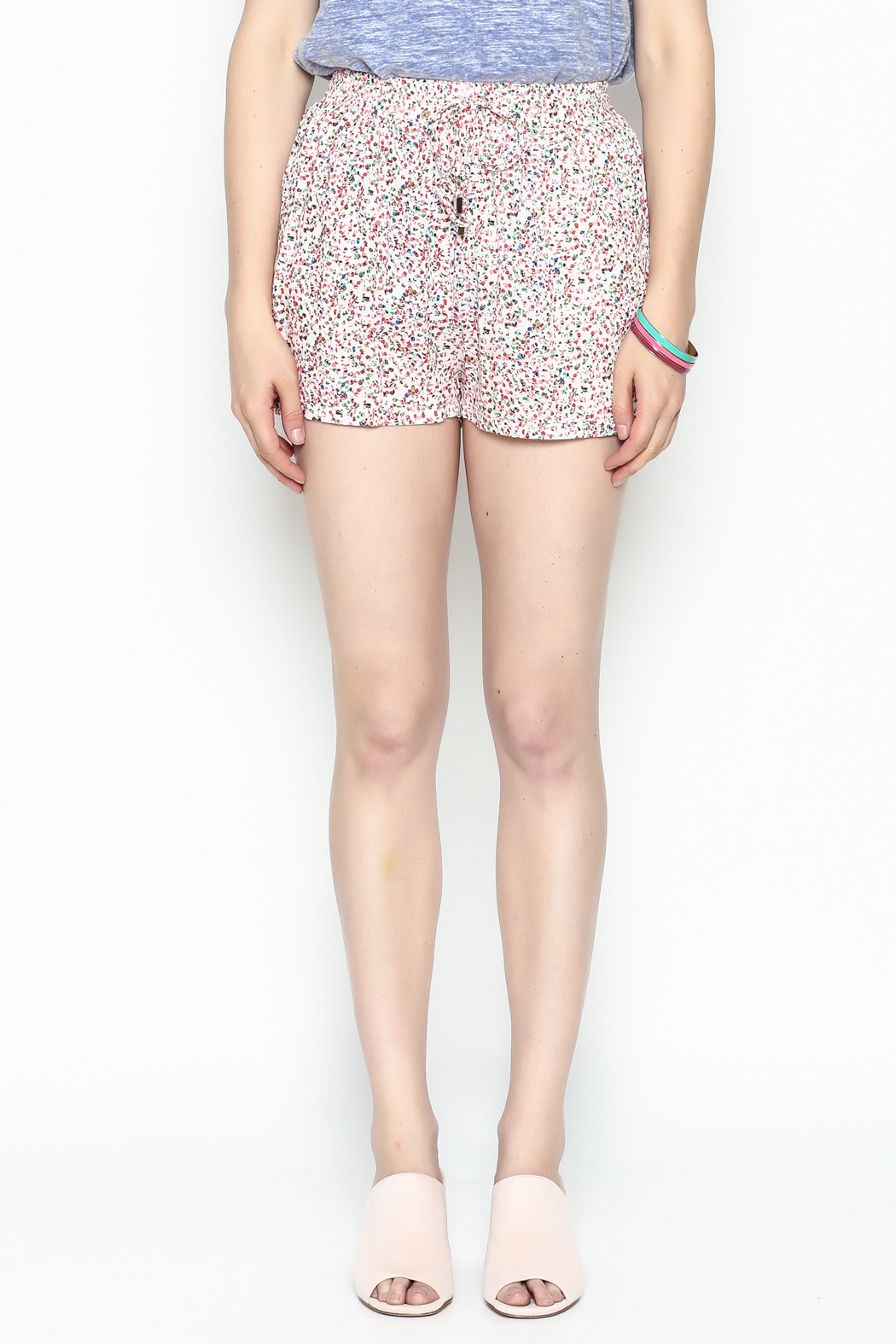 Zoa Multicolor Dot Shorts - Front Full Image