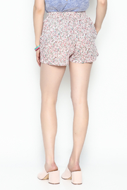 Zoa Multicolor Dot Shorts - Back cropped