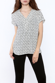 Zoa Grey Printed Boxy Top - Product Mini Image