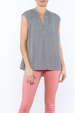 Zoa Blue Printed Boxy Top - Product List Image