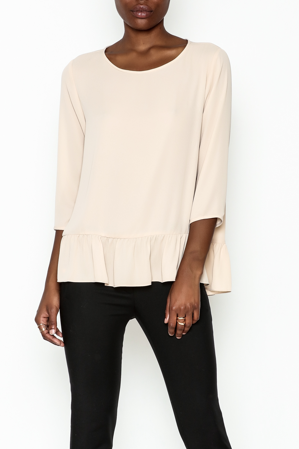 Zoa Ruffle Bottom Top - Front Cropped Image