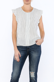 Zoa Stripe Sleeveless Boxy Blouse - Product Mini Image