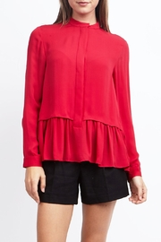 Zoa Ruffled Bottom Blouse - Front cropped
