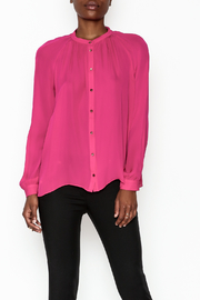 Zoa Silk Button Down Blouse - Product Mini Image