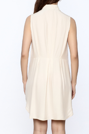 Zoa Beige Silk Dress - Back cropped