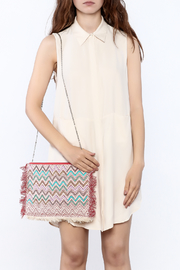 Zoa Beige Silk Dress - Side cropped
