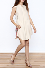 Zoa Beige Silk Dress - Front full body