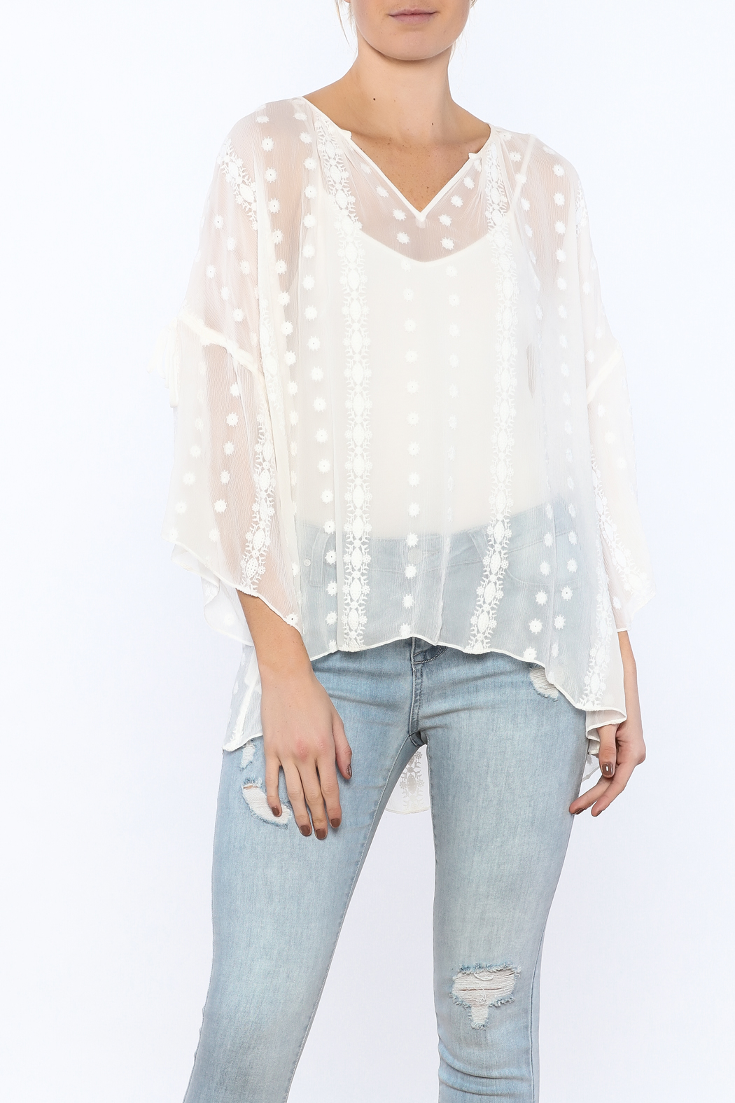 Zoa Sheer Silk Top - Front Cropped Image