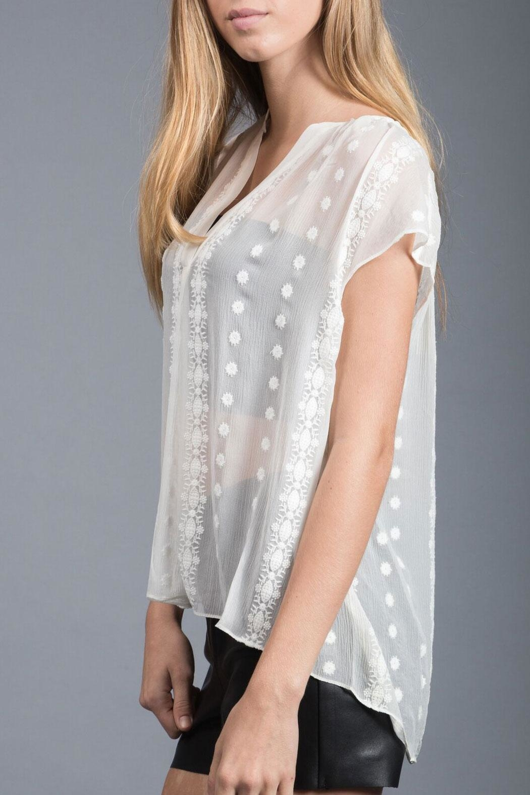 Zoa Silk Lace Blouse - Front Full Image