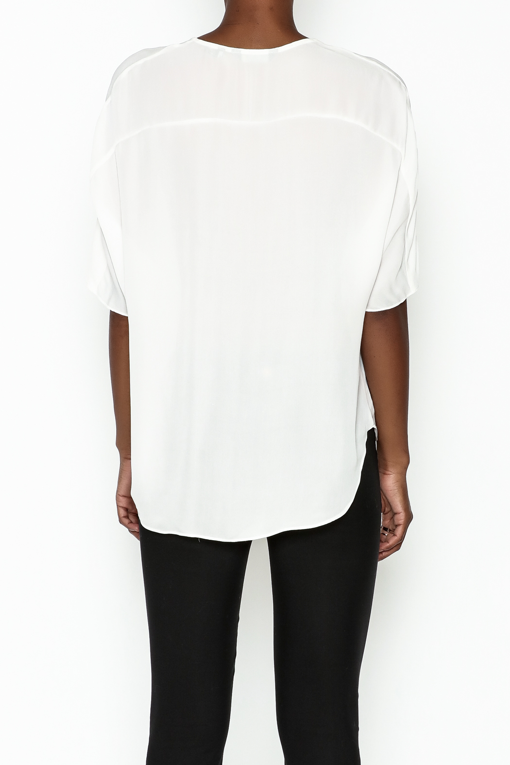 Zoa Silk Open Blouse - Back Cropped Image