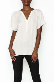 Zoa Silk V Neck Blouse - Front cropped