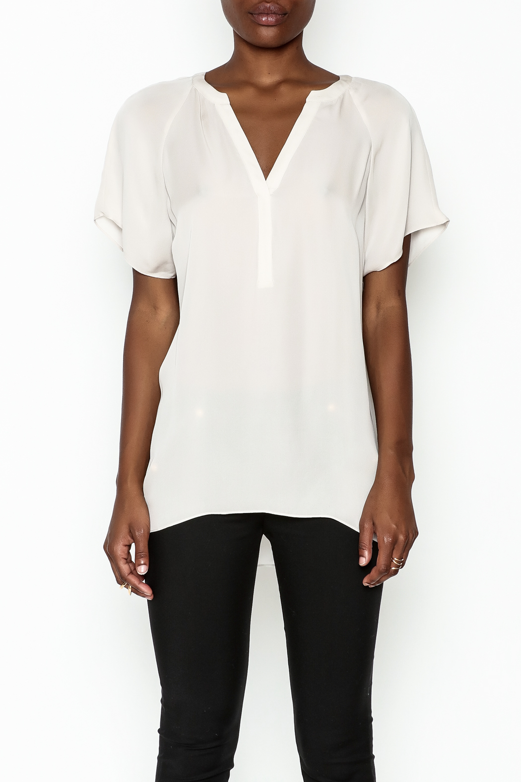 Zoa Silk V Neck Blouse - Front Full Image