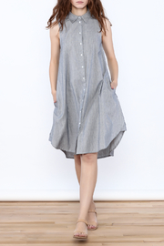 Zoa Grey Sleeveless Knee Dress - Product Mini Image