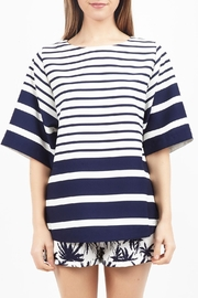 Zoa Striped Short-Sleeve Top - Product Mini Image