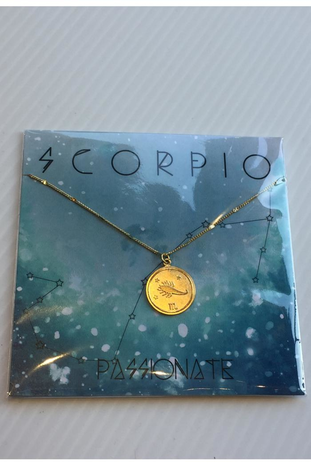 Amano Trading Zodiac Charm Necklace - Front Cropped Image