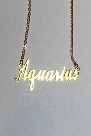 Bella k Zodiac Script Necklace - Product Mini Image