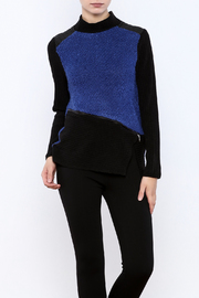Zoe Blue Black Sweater - Front cropped