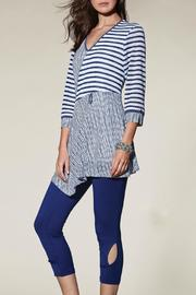 Zoe Blue White Tunic - Front cropped