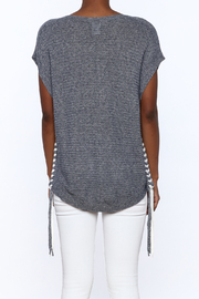 zoe couture Grey Tunic Sweater - Back cropped