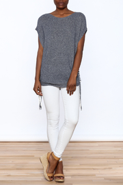 zoe couture Grey Tunic Sweater - Front full body