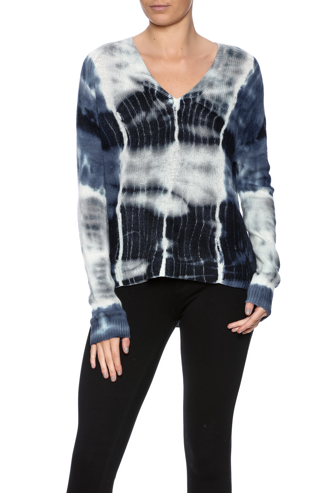 zoe couture Tie Dye Cashmere Pullover - Main Image