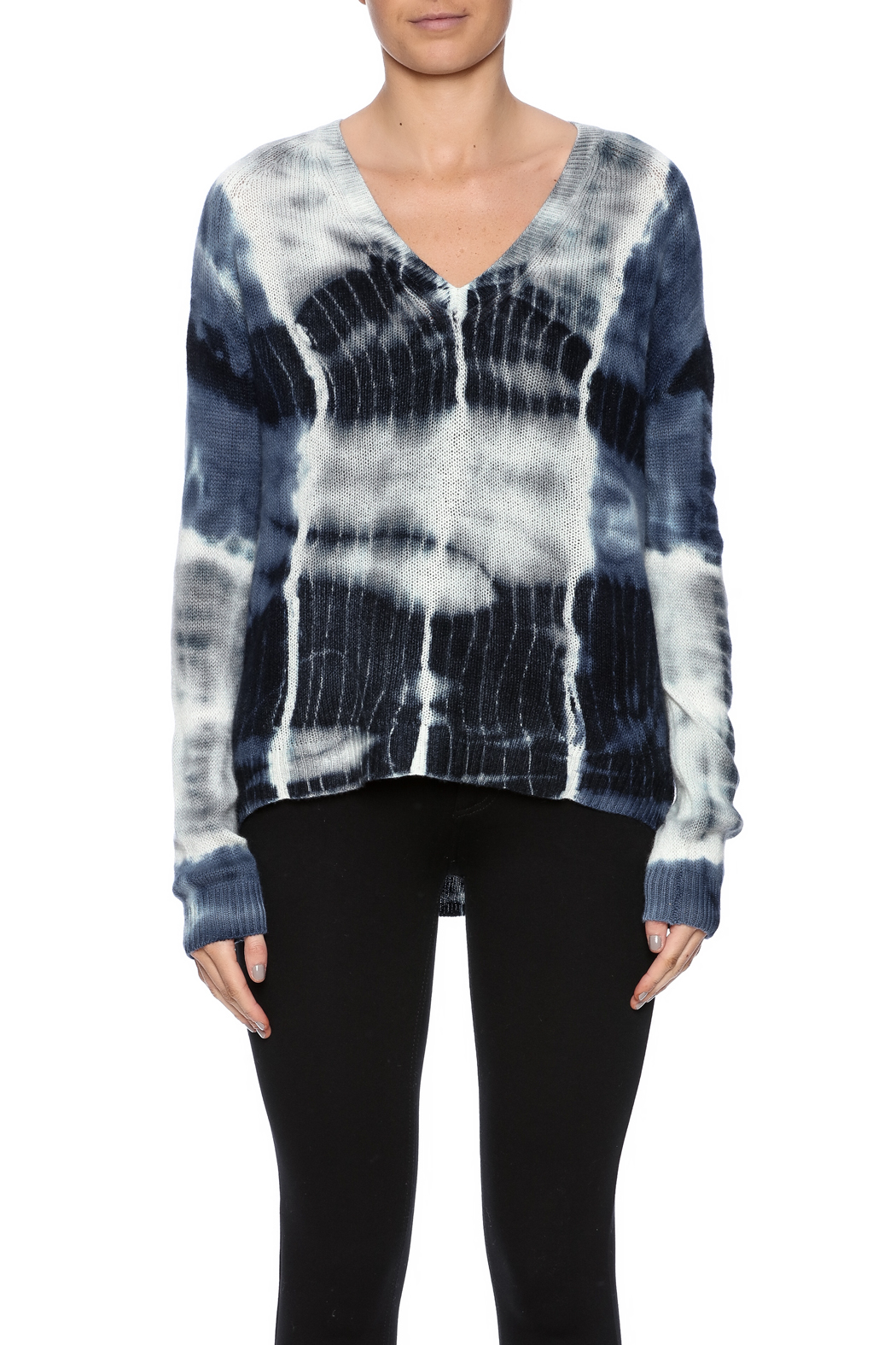 zoe couture Tie Dye Cashmere Pullover - Side Cropped Image