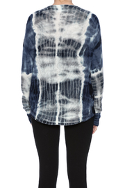 zoe couture Tie Dye Cashmere Pullover - Back cropped