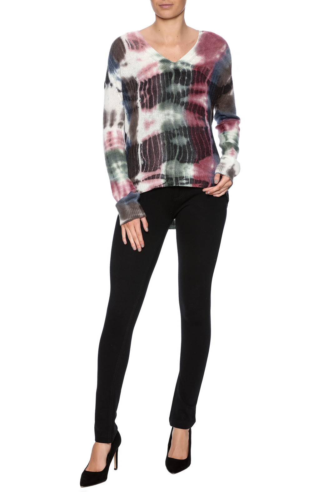 zoe couture Tie Dye Cashmere Pullover - Front Full Image