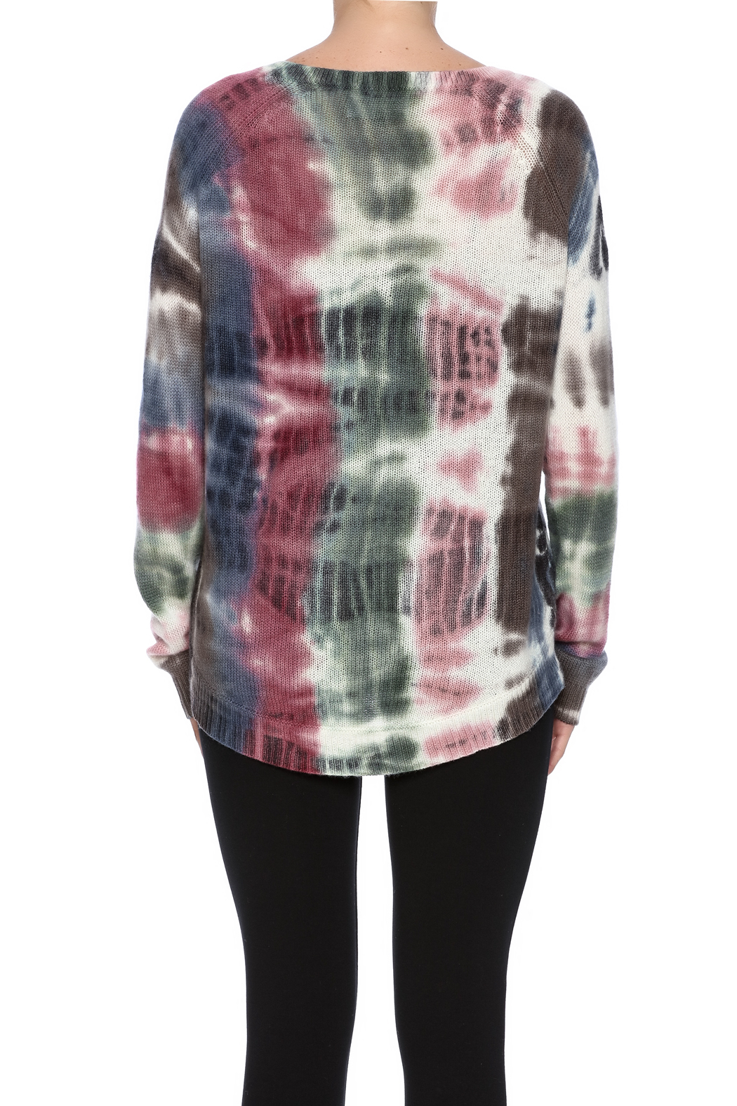 zoe couture Tie Dye Cashmere Pullover - Back Cropped Image