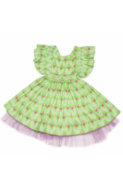 Mandy by Gema Zoe Dress Big Love Lime - Front full body