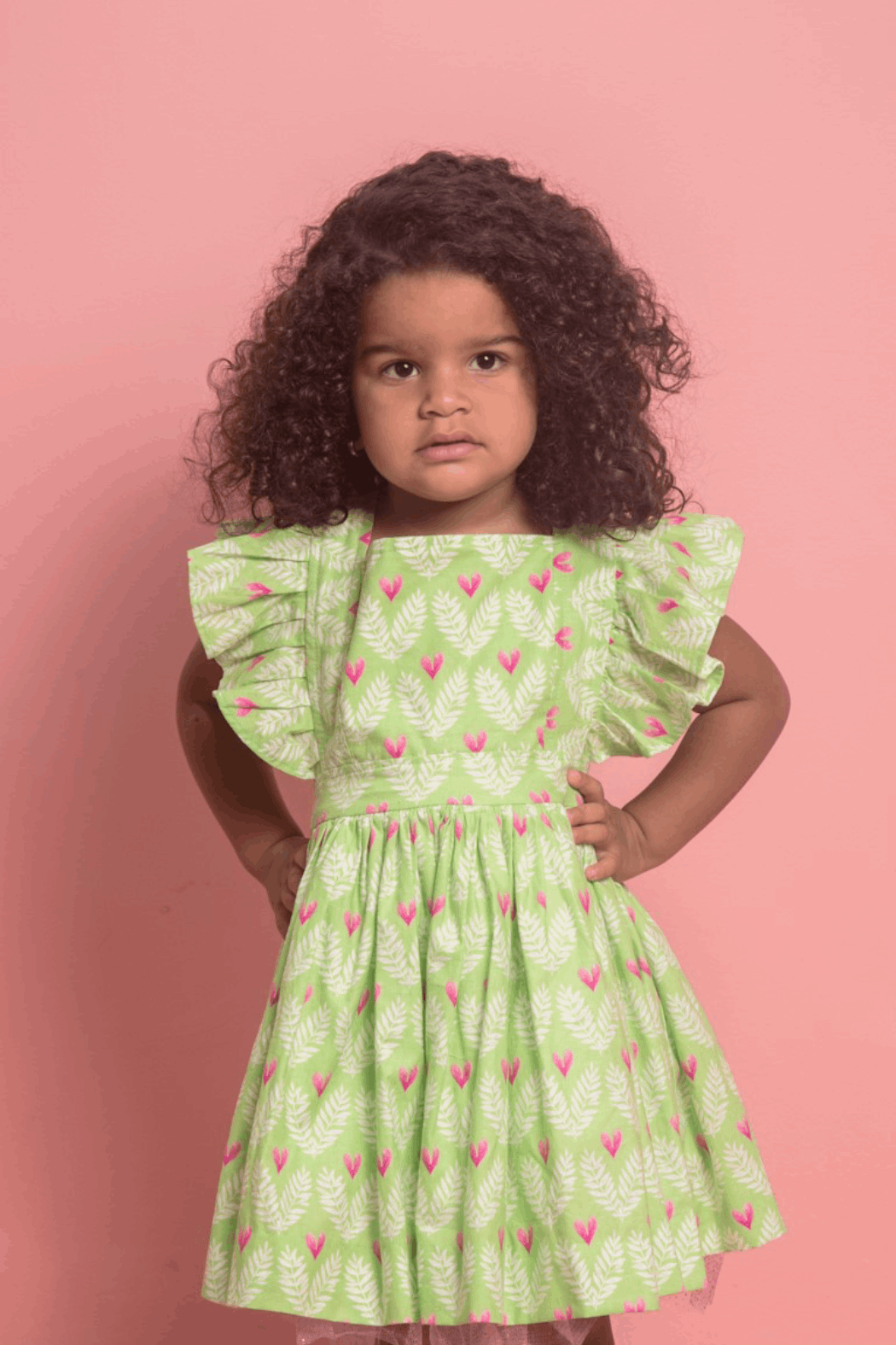Mandy by Gema Zoe Dress Big Love Lime - Main Image