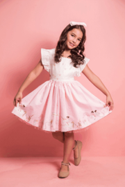 Mandy by Gema Zoe Dress Magical Parade Pink and Lucky Star White - Front cropped