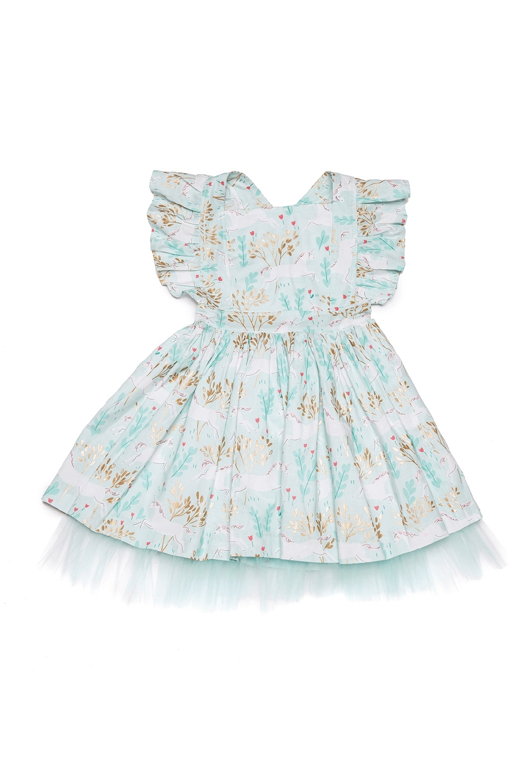 Mandy by Gema Zoe Dress Unicorn Forest Mint - Main Image