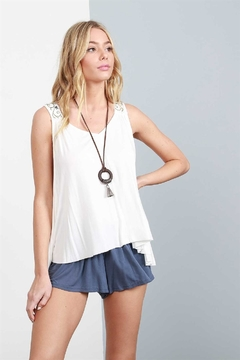 Shoptiques Product: Zoe Embroidered Tank