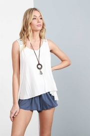 POL Zoe Embroidered Tank - Product Mini Image