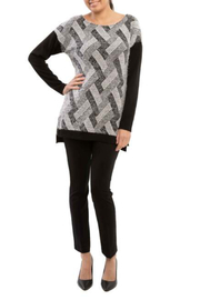 Arianne Zoe Eye Lash Zig Zag Print Sweater - Product Mini Image