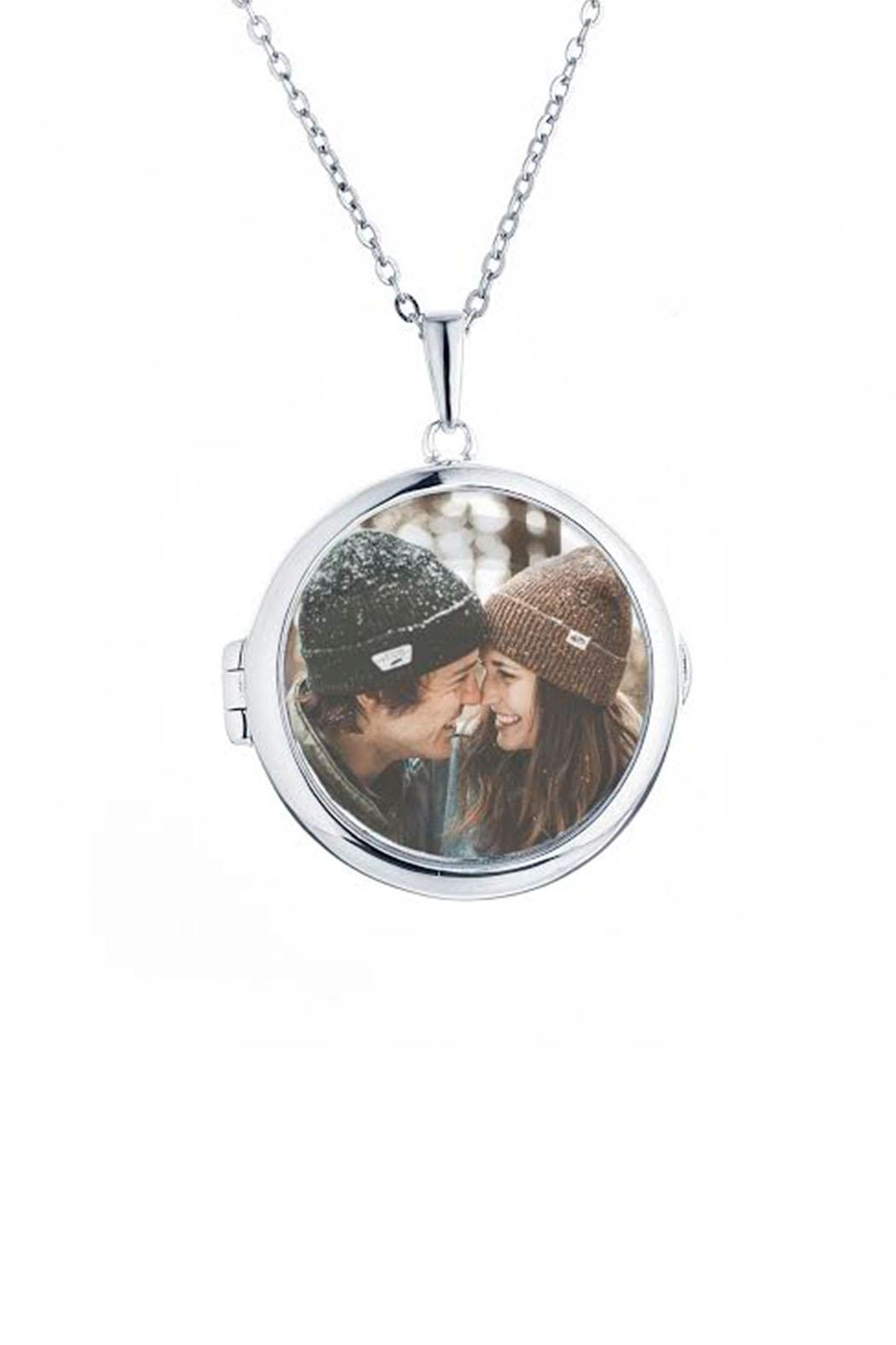 Lets Accessorize Zoe Locket Necklace - Front Cropped Image