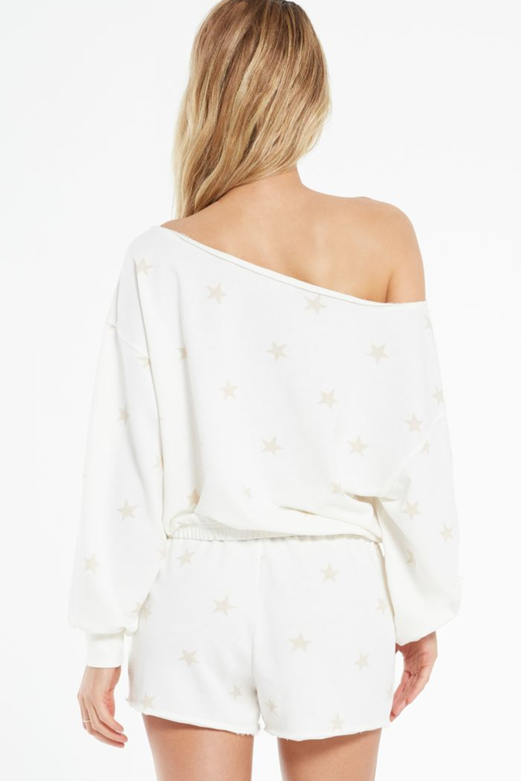 z supply Zoe Summer Star Sweatshirt - Side Cropped Image