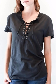 Zoe Karssen Boyfriend Lace Up Tee - Product Mini Image
