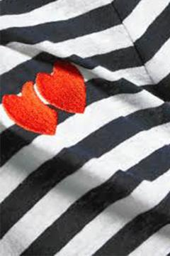 Shoptiques Product: Hearts Stripes Long Sleeve Top