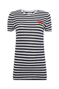 Shoptiques Product: Hearts Stripes Tee