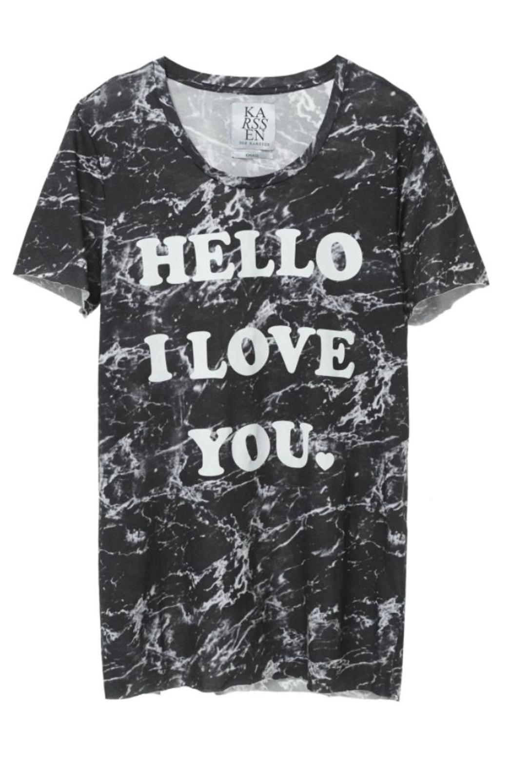 Zoe Karssen Hello Loose-Fit Tee - Main Image