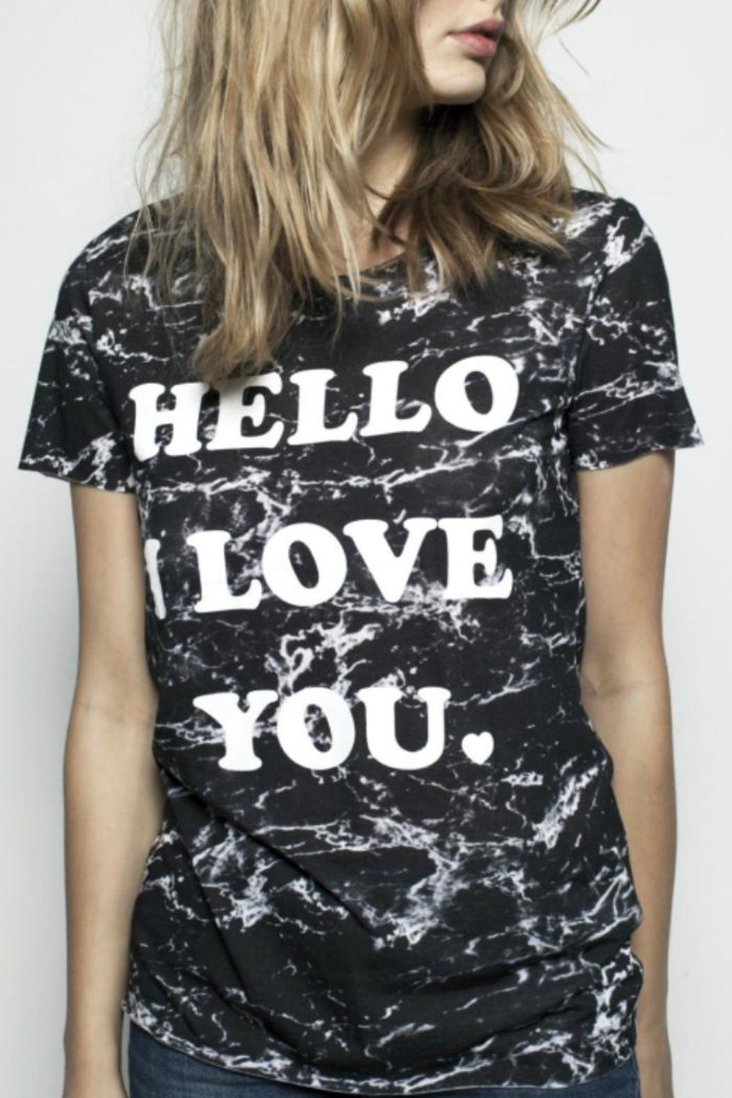 Zoe Karssen Hello Loose-Fit Tee - Front Full Image