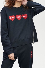 Zoe Karssen Hot For You Side Zip Sweatshirt - Product Mini Image