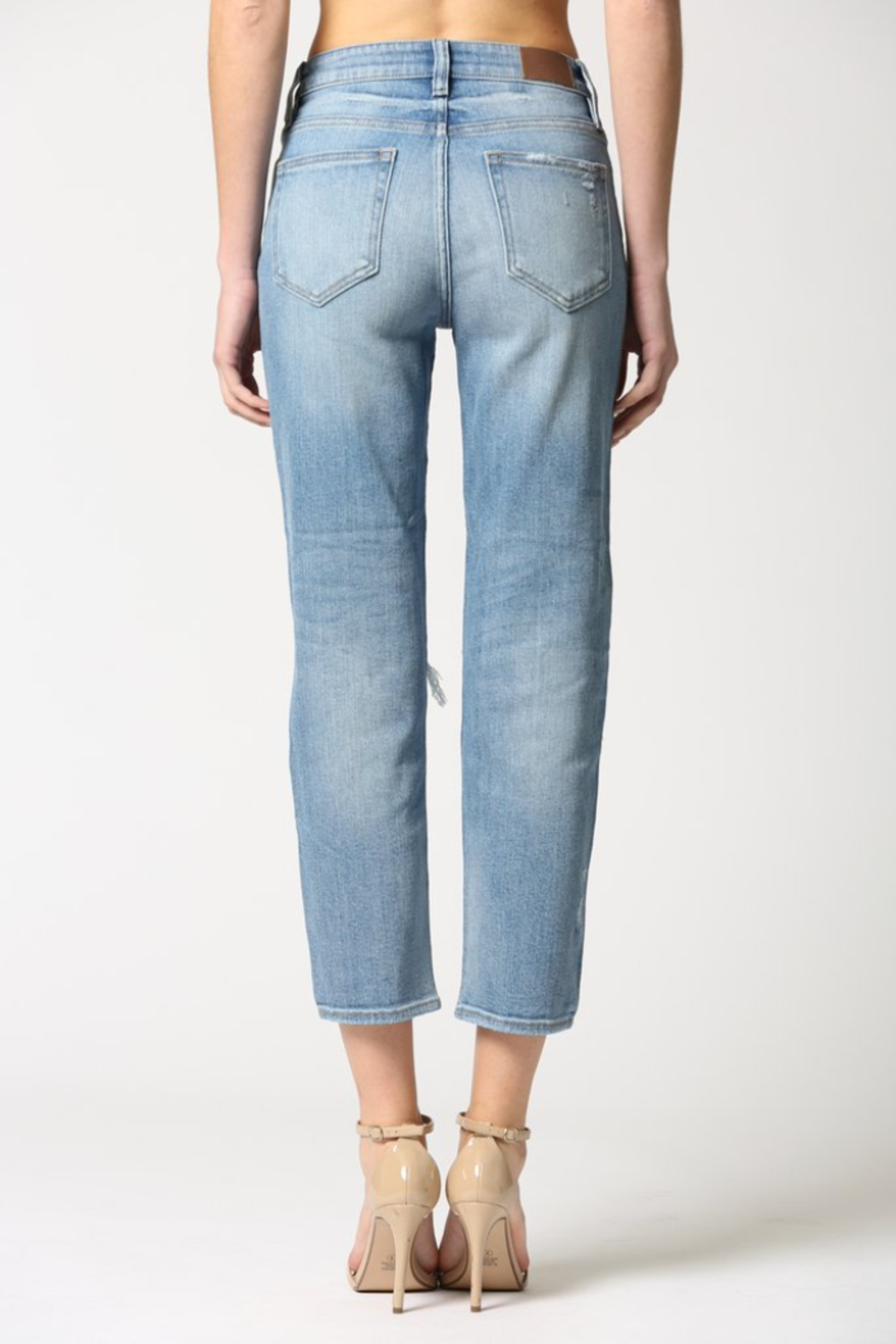 Hidden Jeans Zoey Distressed Mom Jeans - Back Cropped Image